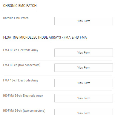 Fill out an online design form by clicking on the link within the product page